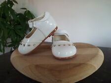 Girls shoes baby diamante party wedding bridesmaid christening White Infant 1