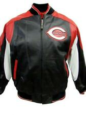Cincinnati Reds Mens Size Medium or Large Embroidered 100% Leather Jacket CIR 2