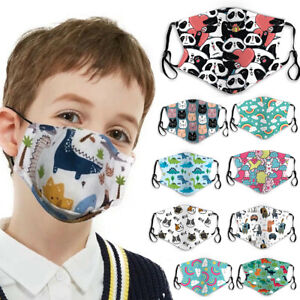 20 Style Cute Boys Girls 3D Face Mask Kids Mask Reusable Washable Cover Masks