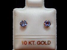 Exclusive Tansanit Ohrstecker - 4 mm - 10 Kt. Gold - 417 - Ohrringe Brillant Cut