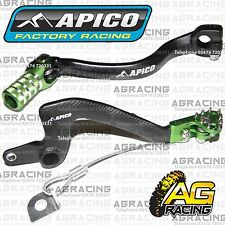 Apico schwarz grün hinten Bremse & Gear Pedal Hebel für Kawasaki KX 65 2010 MotoX