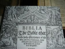 Very Rare 1535 COVERDALE BIBLE LEAF  facsimile Jehovah Watchtower research