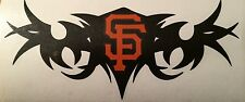 "San Fransisco Giants Decal 3.5""x8"" 2 Colors**free Shipping**"