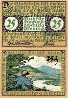 Notgeld 25 Pfennig 1921 Vlotho an der Weser (Nordrhein-Westfalen) SEHR SELTEN