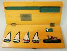 1947 Sail Boat Race Instruction & Protest set Boxed lead boats