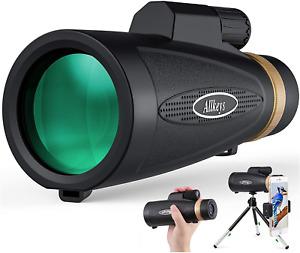 HD Lens Monocular Waterproof Telescope Holder Tripod Star Scope Hiking Hunting