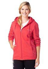W3727 KangaROOS Damen Sweatjacke Sweat Jacke mit Kapuze Rot 40/42