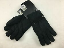 Marc New York Andrew Men's Gloves Size XL Genuine Shearling Black Suede $80 NWT