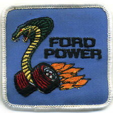 Hot Rod Patch Vtg Ford Cobra Power Race Racing Muscle Classic Car