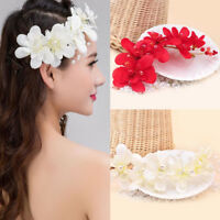 Fashion Wedding Bridal Pearl Flower Headband Hair Clip Tiara Hair Accessory