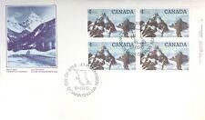 Canada  1984  FDC #934  UR IB     HIGH-VALUE NATIONAL PARK DEFINITIVES   Glacier