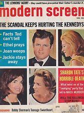 NOV 1969 MODERN SCREEN vintage movie magazine ---  JACKIE KENNEDY