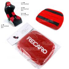 1 Pcs Jdm Recaro Racing Red Tuning Pad For Head Rest Cushion Bucket Seat Racing