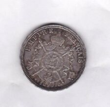 FRANCE 1870BB SILVER FIVE FRANCS IN NEAR EXTREMELY FINE CONDITION