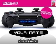 KNR|C1000 Custom Name | Dualshock 4 PS4 Lightbar Decal NEW Removable & Reusable