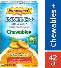 Emergen-C Immune Plus Chewables Vitamin C 1000mg Tablet Emergency w/ D Zinc 42