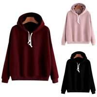 Women's Hoodie Loose Long Sleeve Tops Jumper Pullover Sport Hooded Sweatshirt