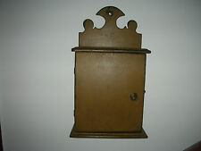 Primitive Colonial Cupboard Cabinet With Door In Great Mustard Paint