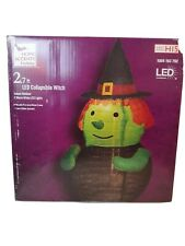 Home Accents Halloween Lighted Collapsible Witch
