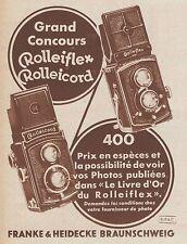 Z8417 Rolleiflex Rolleicord - Pubblicità d'epoca - 1935 Old advertising