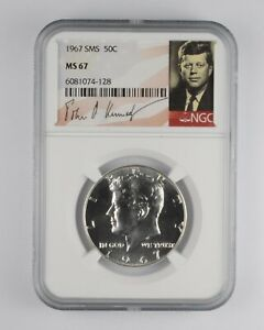 1967 MS67 SMS Special Mint Set Kennedy Half Dollar NGC Graded *001