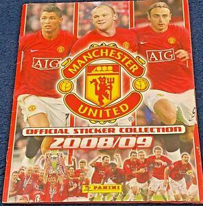 2008/09 Panini Manchester United Sticker Album - Complete