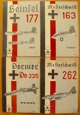 Lot 4 Aero Series German Military Aircraft Books Messerschmitt Heinkel Dornier