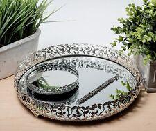 Elegant Silver Mirrored Vanity Tray Decorative Tray For Perfume Jewelry Beverage