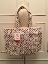 ULSTER WEAVERS. OIL CLOTH 'ROSY DOT' FLORAL BAG WITH PURSE. NEW WITH TAGS.