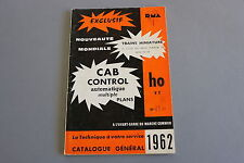X322 RMA Train miniature catalogueHo TT 1962 272 pages 24*15,7 cm cab control