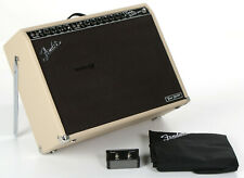 "Fender Tone Master Twin Reverb 2x12"" 200-watt Combo Amp - Blonde - Grill Damage"