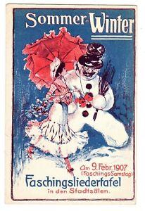 POSTCARD AUSTRIAN 1907 SUMMER & WINTER CARNIVAL (NP)