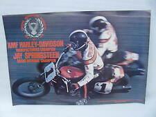 Original Harley Davidson Race Poster AMA Grand National Champion Jay Springsteen