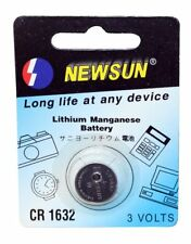 Battery lithium type Button format CR1632. Batteries button