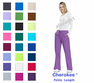 Cherokee Workwear PETITE Women's Nurse Scrub Pants  Style 4101P. ~NEW~ Free Ship