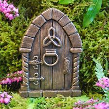 Irish Celtic Fairy Door for Garden Faeries Elfs Pixies In/outdoor Bronze Finish