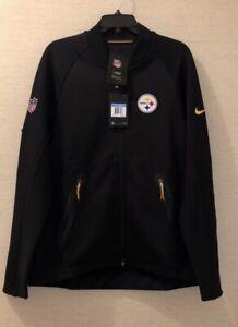 Nike Men;s NFL Pittsburgh Steelers Sideline Coaches FullZip Jacket 852913-010