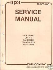 Pathcom Handheld Pace Lm 462 Transceiver Service Manual