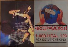 Michael Jackson poster LARGE from BW Magazine Slash Heal The World RARE