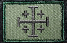 LOT OF 4 PC JERUSALEM CROSS INFIDEL CRUSADER HOOK MORALE PATCH