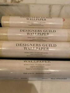 Designers Guild Wallpaper - Jiang Cream and Pink