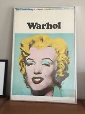 Marilyn Monroe by Andy Warhol - Tate Gallery - Vintage Exhibition Poster, 1971