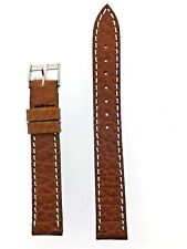 Swiss Army Victorinox Original Watch Band Brown Leather Officer's Ratchet