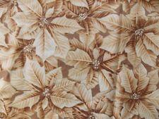 WtW Fabric Natures Christmas C954 Hoffman Poinsettia Floral Metallic Quilt
