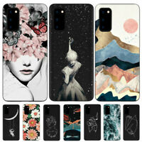For Samsung Galaxy S20 Ultra S10 S9 S8 Plus Soft Rubber TPU Pattern Case Cover