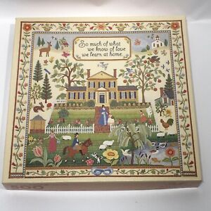 Vintage Springbok Puzzle 500 Piece The Art of the Sampler Embroidery PLZ2416