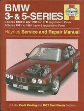 BMW E30 316 318 320 325 & E28 E34 518 520 525 528 530 535 Manuel de réparations * NEUF *