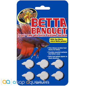 Zoo Med Betta Banquet 7 Day Betta Feeder 6 Tablets FAST FREE USA SHIPPING