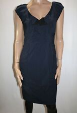 Jacqui-E Brand Navy Cap Sleeve Fitted Dress Size 10 BNWT #TP28