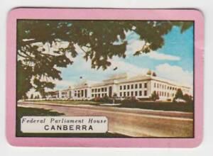 B81 Vintage Swap Card  Canberra federal parliament australian souvenir